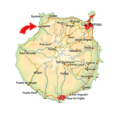 Puerto de las Nieves kort